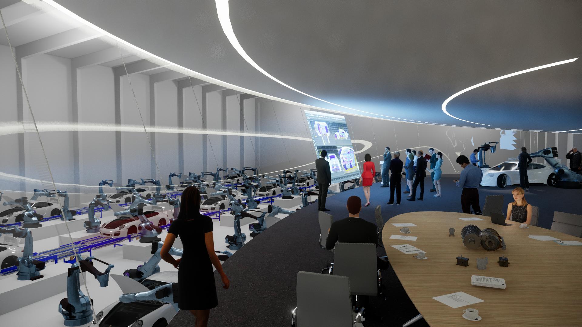 plan 11 - Showroom als spektakulärer Halleneinbau